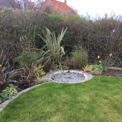 Planting, Turf, Large Water Feature with Pond