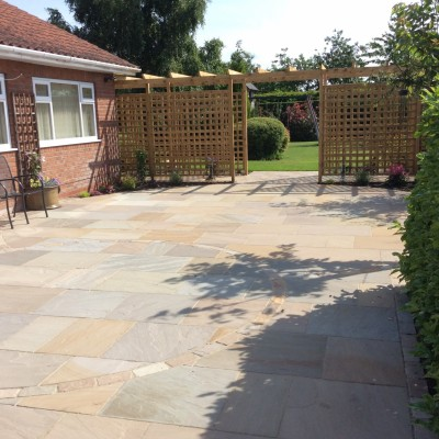 Indian Stone Patio, Cobble Sett Walkway